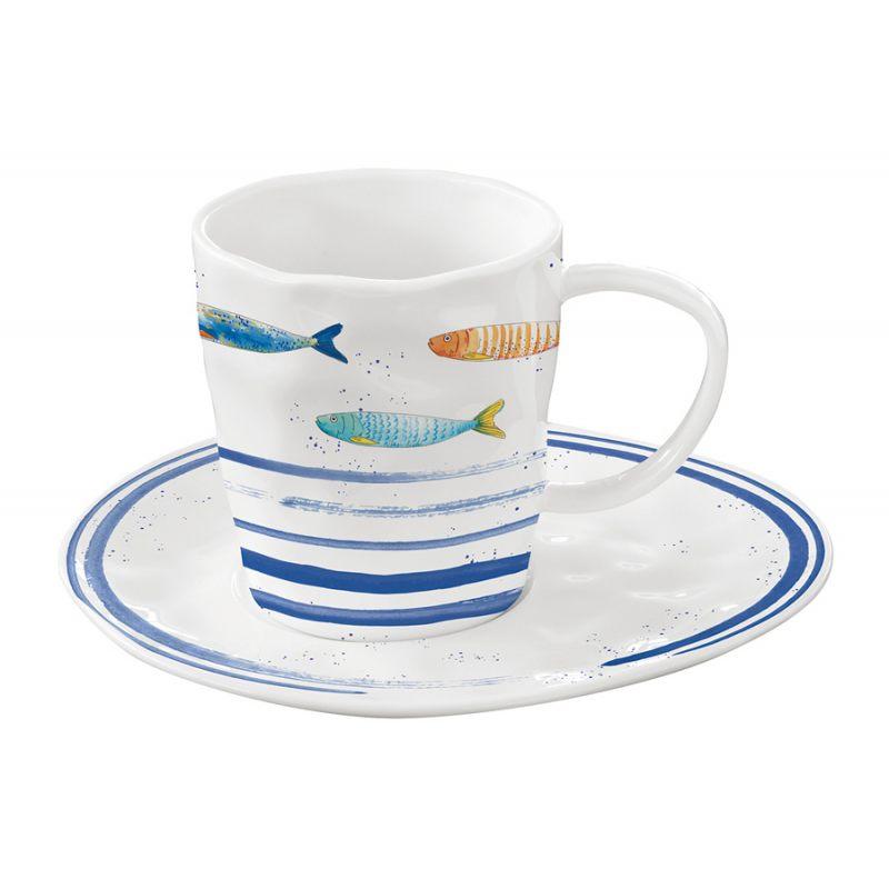 """Чашка с блюдцем """"Bord De Mer"""" в подарочной упаковке"""