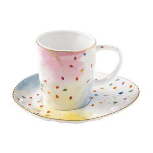 """Чашка с блюдцем """"Colour splash"""" в подарочной упаковке"""