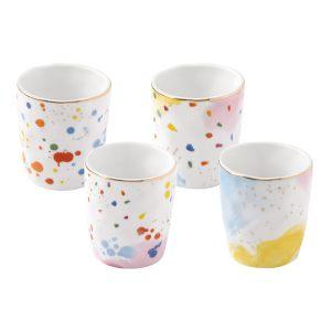 """Набор из 4-х кофейных чашек """"Colour splash"""" в подарочной упаковке"""