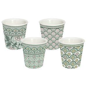 """Набор из 4-х кофейных чашек """"Monsoon"""" (зелёный) в подарочной упаковке"""