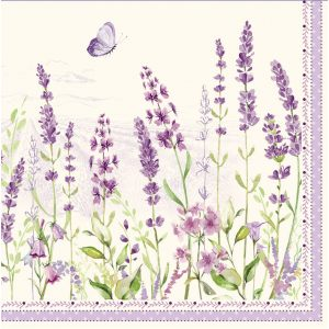 """Салфетки бумажные трехслойные  """"Lavender field"""""""