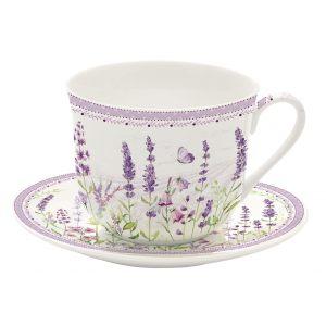 """Набор для завтрака (чашка и блюдце) """"Lavender field"""" в подарочной упаковке"""