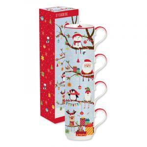 """Набор кружек-башня """"Christmas friends"""" в подарочной упаковке"""