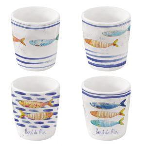 """Набор из 4 чашек для эспрессо """"Bord De Mer"""" в подарочной упаковке"""
