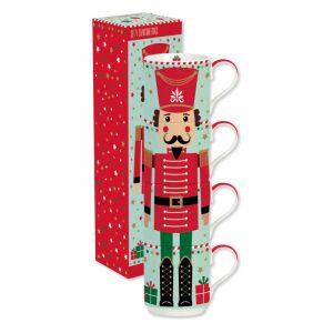 """Набор кружек-башня """"Christmas friends: soldier"""" в подарочной упаковке"""