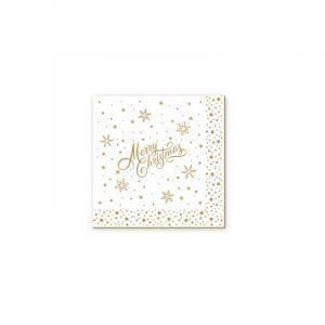 """Салфетки бумажные трехслойные """"Golden Christmas"""""""