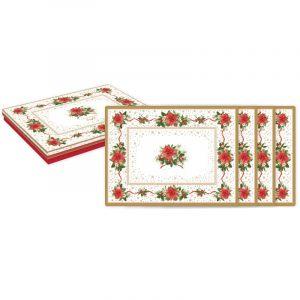 """Набор из 4 подставок под горячее """"Poinsettia"""" в подарочной упаковке"""