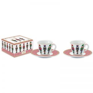 """Набор из 2 чашек с блюдцами """"NUTCRACKERS"""" для кофе в подарочной упаковке"""