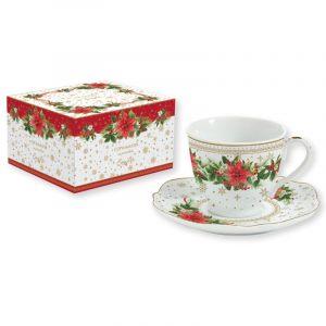 """Чашка с блюдцем """"Poinsettia"""" в подарочной упаковке"""