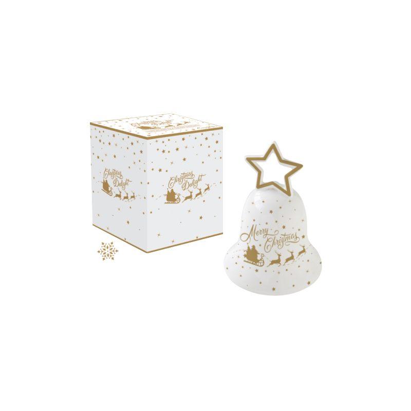 """Колокольчик фарфоровый малый """"Christmas delight"""" в подарочной упаковке"""