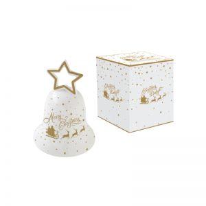 """Колокольчик фарфоровый большой """"Christmas delight"""" в подарочной упаковке"""