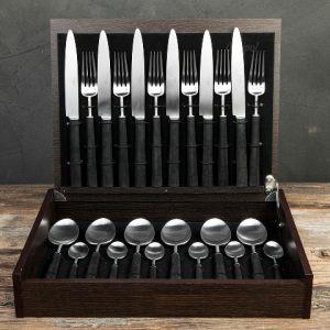 """Набор столовых приборов 24 предмета на 6 персон """"EBONY"""""""