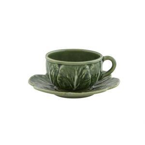 """Чашка чайная с блюдцем """"Капуста"""""""