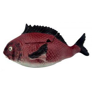Блюдо для горячего с крышкой «Рыбы» 3,3 л (вертикальное)