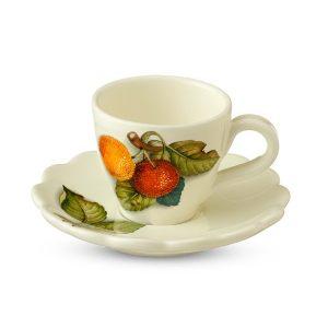 """Чашка с блюдцем """"Итальянские фрукты"""""""