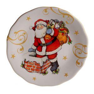 "Тарелка закусочная ""Винтажный Санта"" 23 см"