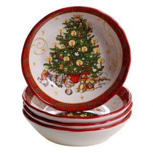 "Тарелка суповая ""Винтажный Санта"" 23 см"