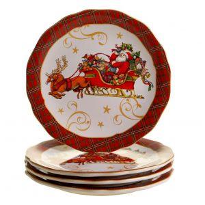 "Тарелка обеденная ""Винтажный Санта"" 28 см"
