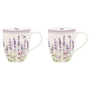 """Набор из двух кружек """"Lavender field"""" в подарочной упаковке"""