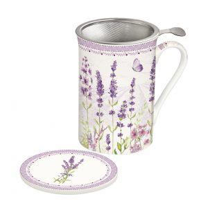 """Кружка заварочная с крышкой и ситечком """"Lavender field"""" в подарочной упаковке"""