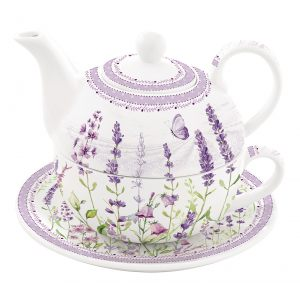 """Чайный набор """"Lavender field"""" (чайник, чашка и блюдце) в подарочной упаковке"""
