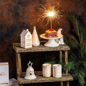 """Набор из 3-х подсвечников """"Christmas delight"""" в подарочной упаковке"""