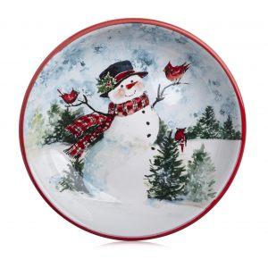 """Тарелка суповая """"Снеговик"""" 23 см"""