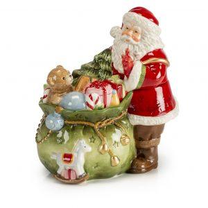 """Шкатулка """"Санта с подарками"""" 19 см"""