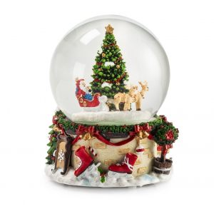 """Фигурка """"Шар с ёлкой и Дед Морозом в санях"""""""