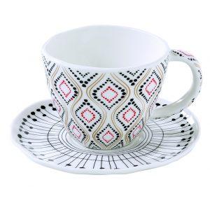 """Набор из 2 чашек с блюдцами для кофе """"Organic collection"""" в цветной упаковке"""