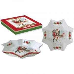 """Блюдо сервировочное """"Vintage christmas"""" в подарочной упаковке"""