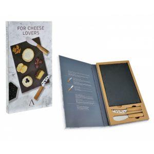 """Подарочный набор """"Comfort"""" из 2-х ножей для сыра с грифельной доской"""