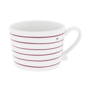 "Чашка ""White Stripes Нeart"""