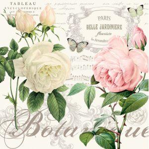 """Салфетки бумажные трехслойные """"Jardin Botanique"""""""