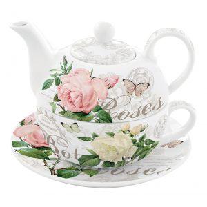 """Чайный набор """"Jardin Botanique"""" (чайник, чашка и блюдце) в подарочной упаковке"""