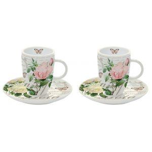 """Набор из 2 чашек с блюдцами для кофе """"Jardin Botanique"""" в подарочной упаковке"""