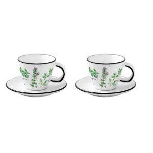 """Набор из 2 чашек с блюдцами для кофе """"Herbarium"""" в подарочной упаковке"""