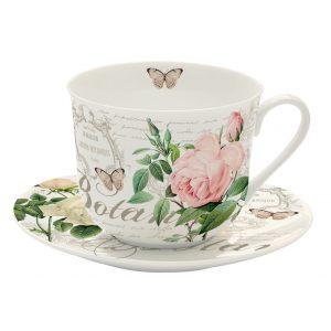 """Чашка и блюдце для завтрака """"Jardin Botanique"""" в подарочной упаковке"""