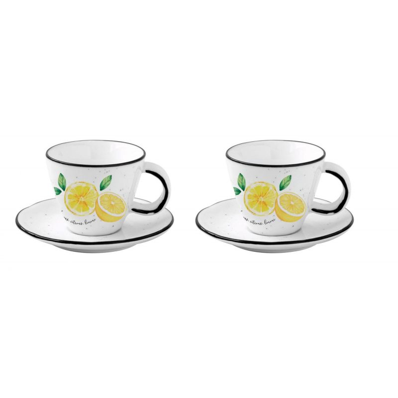 """Набор из 2 чашек с блюдцами для кофе """"Amalfi"""" в подарочной упаковке"""