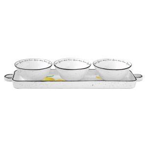 """Набор для закусок """"Amalfi"""" с 3 фарфоровыми чашами в подарочной упаковке"""