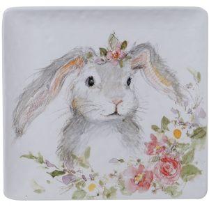 """Блюдо квадратное """"Милый кролик"""" 32 см"""