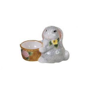 """Подставка для яиц """"Милый кролик"""" (с корзинкой)"""