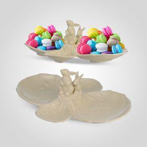 """Конфетница с кроликами """"Крем де ла крем"""" (менажница)"""
