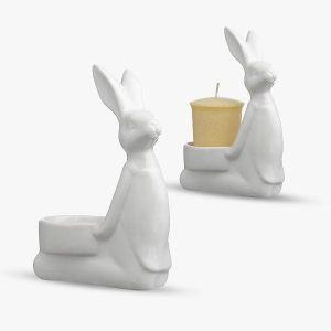 """Подсвечник """"Любопытный кролик"""""""