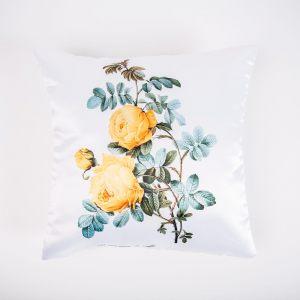 "Подушка двусторонняя ""Цветы на белом"""