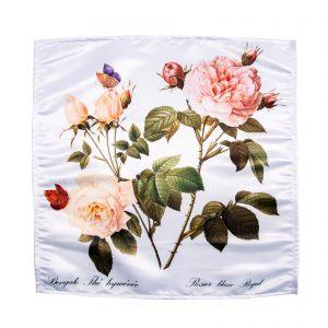 "Салфетка ""Розовая роза с бабочками"""