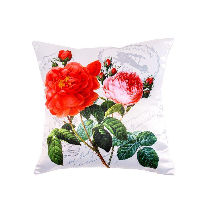 """Подушка """"Цветы с марками"""""""