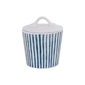 """Сахарница """"Бриз"""" (белая с синими полосками) без инд.упаковки"""