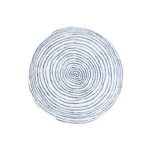 "Тарелка обеденная ""Бриз"" (синяя с белыми полосками) без инд.упаковки"