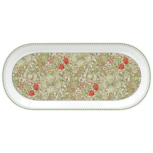 Блюдо овальное Уильям Моррис (зелёное) в подарочной упаковке